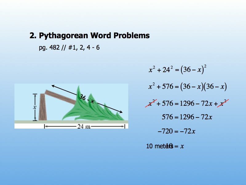 Geometry – Day 68 – Pythagorean Word Problems & Distance Formula ...