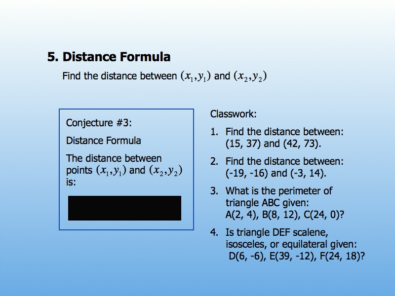 Worksheets Distance Formula Word Problems Worksheet geometry day 68 pythagorean word problems distance formula give what theyve done on the last several have them derive formula