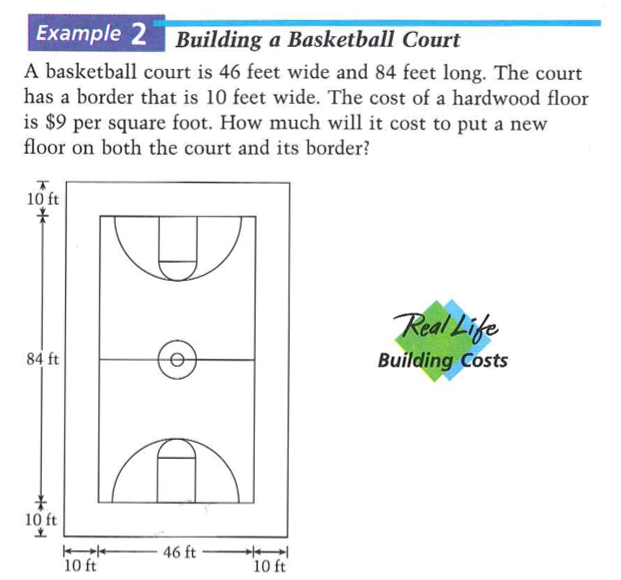 The 2011 perplexity session algebra for Basketball court cost estimate