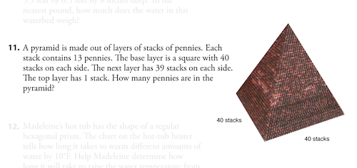 Pyramid of Pennies — Textbook